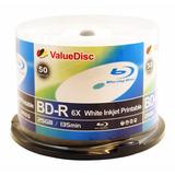 Valuedisc Bd-r 6 X 25 Gb Blanco Inkjet 50pk Imprimible En