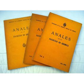 Anales Facultad De Quimica 1977 78 Y 79 Libro Estudio
