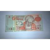 Billetes De 5 Pesos Uruguayos 1998 Serie A Sin Circular!