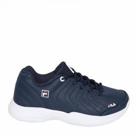 Tênis Fila Casual Lugano 5,0 Azul Marinho/branco 690620