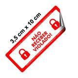 250 Lacre De Segurança Caixas Marmita Marmitex Embalagem