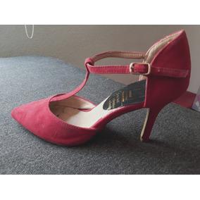 Zapatos Dama 23 Zapatillas Tacones Ropa De Mujer Tacon Rojo