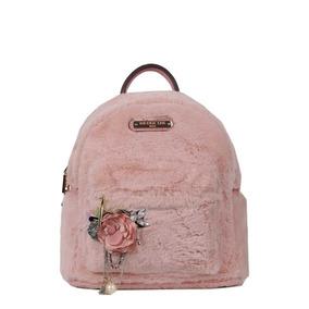 Nicole Lee Mochila Yeva Faux Fur Backpack Pink