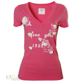 324e44f2ae Camiseta Abercrombie Feminina - Camisetas Manga Curta Femininas em ...