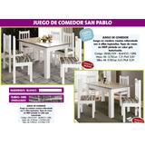 Juego De Comedor San Pablo Madera Maciza4 Y 6 Sillas Gna Ro