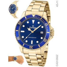 Relógio Champion Masculino Dourado Ca31266z Original C/ Nota