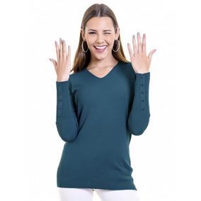 Sweater Escote En V De Mujer Trenzado Mauro Sergio d0610cd0fad3