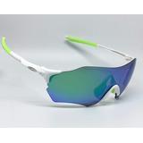 Óculos Oakley Evzero Ciclismo Branco Verde Corrida Leve 22g a6d038822d