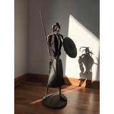 Gran Escultura De Octavio Podestá, Alto 61 Cm, Don Quijote.