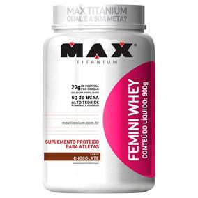Femini Whey 900g Feminino Proteína Max Titanium