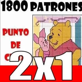 1800 Patrones Punto De Cruz, Con Variados Motivos