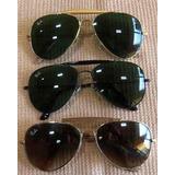 Óculos Ray - Ban Aviador Caçador Verde   Dourado Lindo Barat 3bb57b0aed