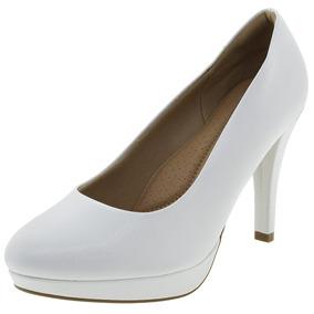 Sapato Feminino Salto Alto Branco Piccadilly - 841029