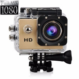 Camara Deportiva Sumergible 30 Mtrs Hd 1080p Color Gold