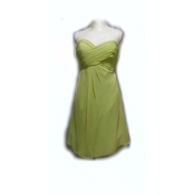 Lilasori Vestido De Coctel Importado Color Verde Talla 36