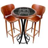 Juego De Mesa Bistro Jack Daniels 50cm C/ 2 Banquetes