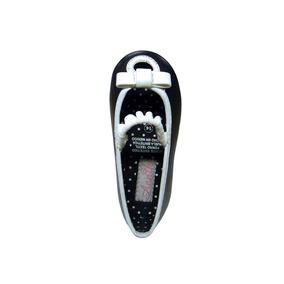 Ojin Zapato Flat Balerina Color Ngo Con Bco Niña Annik Flats