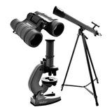 Kit Telescopio,microscopio, Binocular Vivitar Viv-tel-mic40