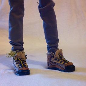 Botas De Montaña 1/6 Para Hot Toys, Phicen O Ken