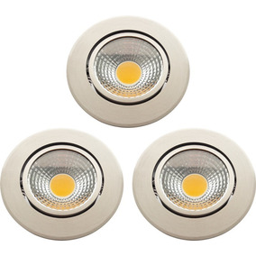 3-pack Lámpara Techo Empotrable 5w Blanco Led (257)