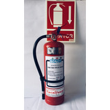 Extintor Polvo Abc 4 Kg + Soporte + Cartel Extintor