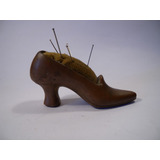 Alfiletero Costurera Antiguo Zapato En Cobre Muy Antiguo