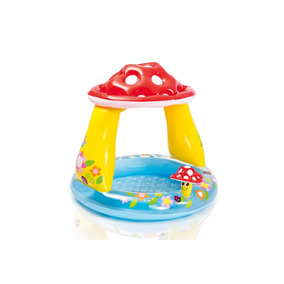 Piscina Para Bebes Con Techo Con Diseño De Hongo Intex 57114