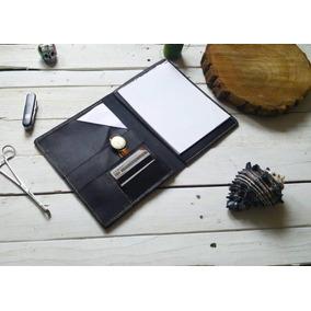 Padfolio Media Carta Color Café Oscuro 100% Piel