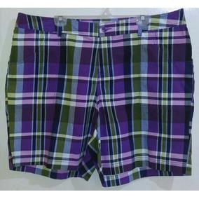 Short Dama T/ Extra 22 Lane Bryant Spandex Cuadros Colores