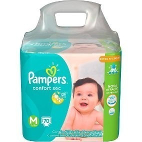 Pañales Pampers Confort M X 72