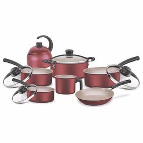 Juego Batería De Cocina Rojo 7 Piezas - Tramontina Tr6370