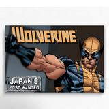 Cuadro Decorativo Comics Wolverine Poster 60x40 X-men Marvel