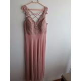 Vestido madrina rosa cha