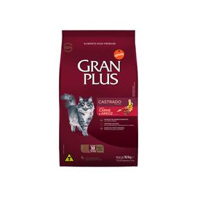 Ração Granplus Para Gatos Adultos Castrados Sabor Carne E