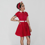 Vestido Camisero Pin Up Rockabilly Retro 1950