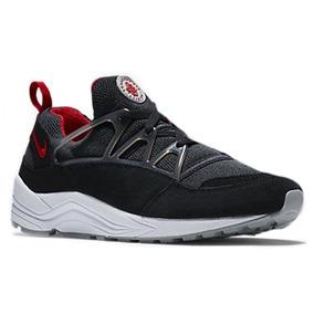 Tenis Nike Air Huarache Light Negro Rojo Basketball Jordan
