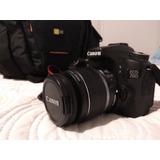 Camara Canon Reflex Eos 70d En Caja Con Bolso, Como Nueva