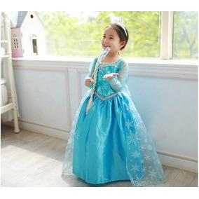 Linda Fantasia Vestido Elsa Frozen Envio Imediato