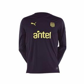 Camiseta Peñarol Puma Golero Negra Adulto 2018