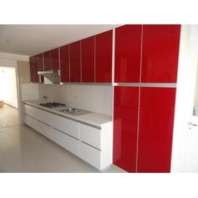 Mueble De Cocina Moderno   Alacena Y Bajo Mesada   1 Metro