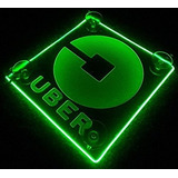 Logo Led Lit Sign Rideshare Car Sign Pilas Aa Verde