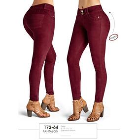 Pantalones Dama Cklass 172 64 Tinto 5 A 13 Strech Gabardina