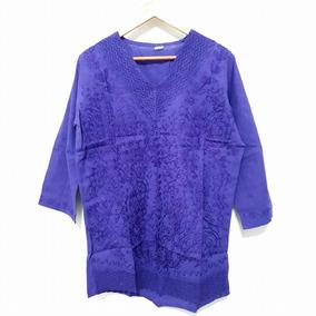 Camisola Manga Larga Hindú Básica Violeta