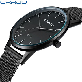 Crrju Top Relógios Homens Marca Luxo Casual Aço Inoxidável