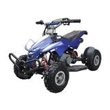 Mini Quadriciclo Atv 49cc Gasolina 2t Freio A Disco Azul