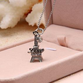 Torre Eiffel Paris Dije Collar Regalo Cumpleaños Amor Joyas