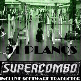 Planos Gimnasios Maquinas Ejercicios Gym Construir Aparatos