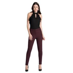 Pantalón Casual Yaeli Fashion Color Vino 172966 Ppv18
