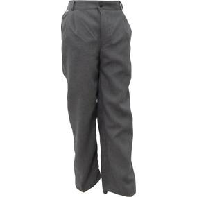 Pantalón Escolar Con Resorte Polilana Gris Oxford 4 A 16