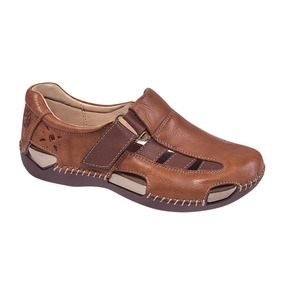 Zapato Comodo Bonito Lobo Color Cedro Piel Co102